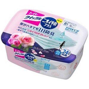 花王 トイレクイックル ニオイ予防プラス ローズ 容器 8枚