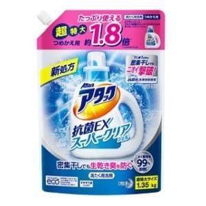アタック抗菌EXスーパークリアジェル つめかえ1350g 花王 アタツクSC カエ 1350G