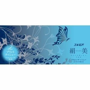 カミ商事 エルモア 絹美プリントティシュー 400枚(200組) ブルー