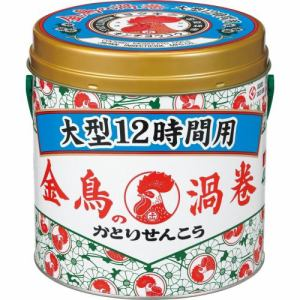 大日本除虫菊 金鳥の渦巻 大型 12時間用 缶 40巻