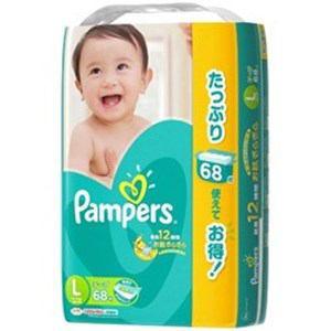 P&G パンパース さらさらケアテープ ウルトラジャンボ Lサイズ 68枚入