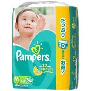 P&G パンパース さらさらケアテープ ウルトラジャンボ Mサイズ 80枚入