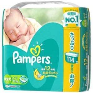 P&G パンパース さらさらケアテープ ウルトラジャンボ 新生児 114枚入