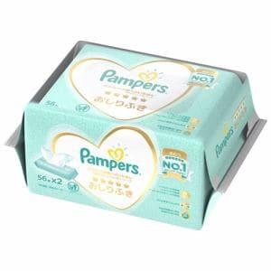 P&G パンパースの肌へのいちばん おしりふき 56枚×2