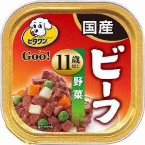日本ペットフード  ビタワンGOO 11歳以上 ビーフ&野菜  100g