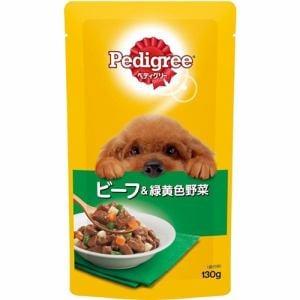 マースジャパンリミテッド P101 ぺディグリーパウチ 成犬用旨みビーフ&緑黄色野菜  130g