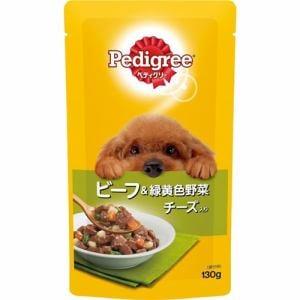 マースジャパンリミテッド P103  ぺディグリーパウチ 成犬用旨みビーフ&緑黄色野菜とチーズ入り  130g