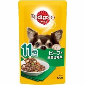 マースジャパンリミテッド P111  ぺディグリーパウチ 11歳からのやさしくカラダケアほぐれビーフ&緑黄色野菜  130g