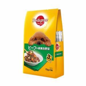 マースジャパンリミテッド P115 ペディグリーパウチ 成犬用元気な毎日サポート 旨みビーフ&緑黄色野菜  70g×3