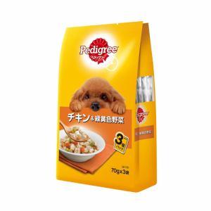 マースジャパンリミテッド P116  ペディグリーパウチ 成犬用元気な毎日サポート 旨みチキン&緑黄色野菜  70g×3