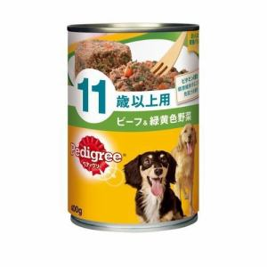 マースジャパンリミテッド P127 ペディグリー缶 11歳からのやさしくカラダケア やわらかビーフ&緑黄色野菜  400g