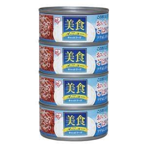 アイリスオーヤマ 美食メニュー おいしいごはん ツナ&しらす入り 170g×4缶