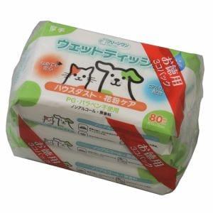 シーズイシハラ  クリーンワンウェットティッシュ花粉ガード レギュラー  80枚入り3個パック