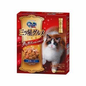 ユニ・チャーム  銀のスプーンプレミアム三ツ星グルメ 全猫用お魚レシピ つぶし小魚とかつお節仕立て  240g