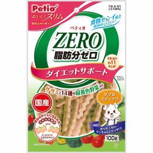 ペティオ  おいしくスリム 脂肪分ゼロ ダブルスティック ササミと14種の緑黄色野菜入り  100g