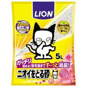 ライオン商事  ニオイをとる砂フローラルソープの香り  5L