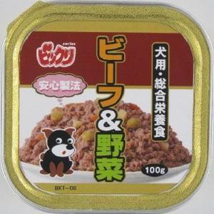 ペットライブラリー BKT‐06  ビックリ 犬トレイビーフ&野菜  100g