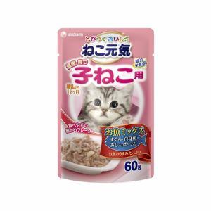 ユニ・チャーム  ねこ元気パウチ 健康に育つ子猫お魚ミックス  60g
