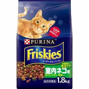 ネスレ日本  フリスキードライ 室内ネコ用 まぐろ・チキン・野菜入り  1.8kg