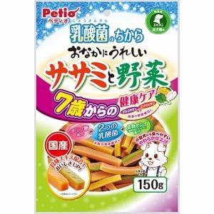 ペティオ  おなかにうれしい ササミと野菜 7歳からの健康ケア  150g