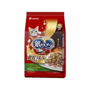 ユニ・チャーム  銀のスプーン贅沢うまみ仕立て お魚・お肉・野菜入り  1.0kg