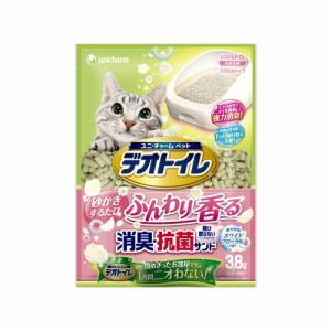 ユニ・チャーム  デオトイレふんわり香る消臭・抗菌サンド ホワイトフローラルの香り  3.8L