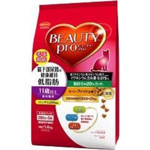 日本ペットフード ビューティープロ キャット 猫下部尿路の健康維持 低脂肪 11歳以上 1.4kg(280gx5)
