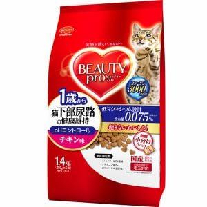 日本ペットフード ビューティープロ キャット 猫下部尿路の健康維持 1歳から チキン味 1.4kg(280gx5袋)
