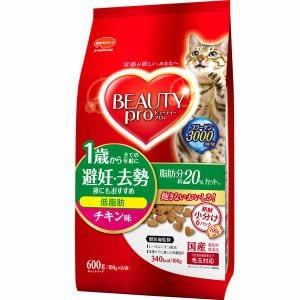 日本ペットフード ビューティープロ キャット 低脂肪 1歳から チキン味 600g(100gx6袋)