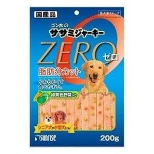 マルカン サンライズ ゴン太のササミジャーキー ZERO 緑黄色野菜入り 200g