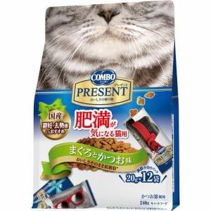 日本ペットフード コンボ キャット プレゼント ドライ 肥満が気になる猫用 まぐろとかつお味 240g(20gx12袋)