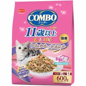 日本ペットフード コンボ キャット 毛玉対応11歳以上 かつお味・かつおチップ・かつおぶし添え 600g