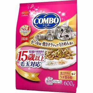 日本ペットフード コンボ キャット 毛玉対応15歳以上 かつお味・焼きタラ・ちりめん添え 600g