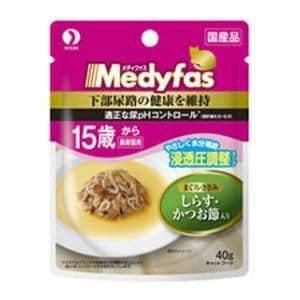 ペットライン メディファス スープパウチ 15歳から長寿猫用 しらす・かつお節入り 40g