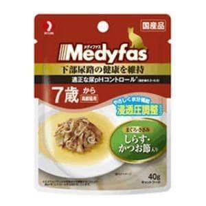 ペットライン メディファス スープパウチ 7歳から高齢猫用 しらす・かつお節入り 40g
