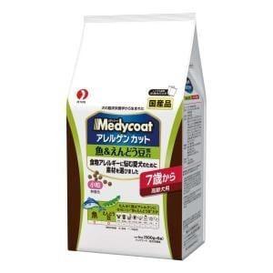ペットライン メディコート アレルゲンカット 魚&えんどう豆蛋白 7歳から 高齢犬用 3kg(500g×6パック)