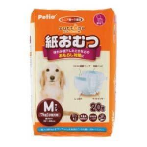 ペティオ 老犬介護用 紙おむつ M(7kgまでの小型犬用)20枚