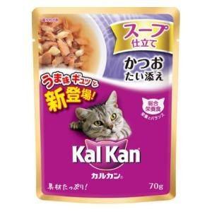 マースジャパン カルカン スープ仕立て かつお・たい添え(パウチ)70g