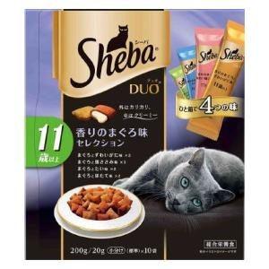 マースジャパン キャットフード(ドライ)シーバ デュオ 高齢猫用(11歳以上)香りのまぐろ味セレクション 200g(20g×10袋)