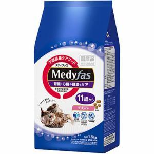 ペットライン 下部尿路ケアフード メディファス 11歳から チキン味 1.5kg