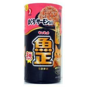 ペットライン キャネット 魚正 まぐろ・サーモン入り 160g×3缶