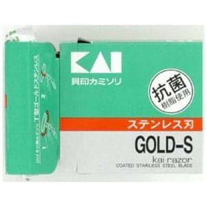 貝印 T型ゴールドステンレス カミソリ 5本入