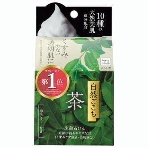 自然ごこち 茶 洗顔石けん (しっとりタイプ) (80g)