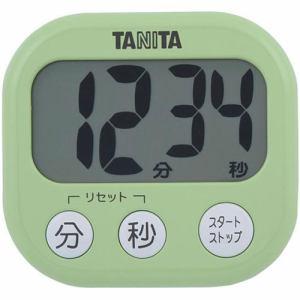 タニタ TD-384-GR デジタルタイマー でか見えタイマー ピスタチオグリーン
