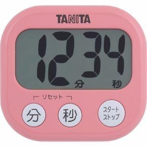 タニタ TD-384-PK デジタルタイマー でか見えタイマー フランボワーズピンク