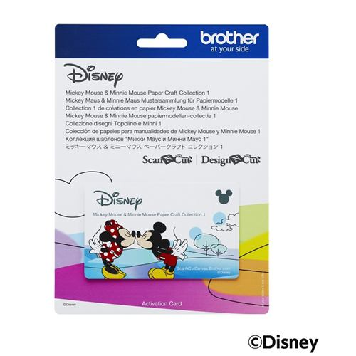 ブラザー CADSNP01 ミッキー&ミニーマウス ペーパークラフトコレクション1