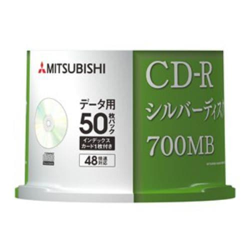 三菱ケミカルメディア SR80FC50D5 CD-R 1回記録用 700MB データ用 48倍速 50枚スピンドルケース シルバーディスク