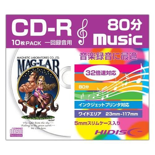HIDISC HDCR80GMP10SC 音楽用CD-R スリムケース入り10枚パック