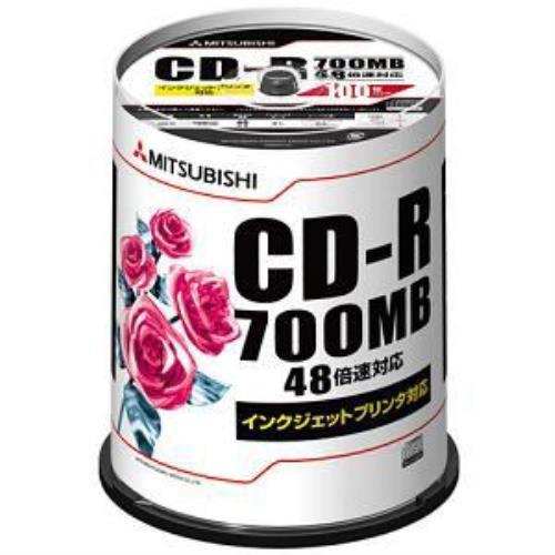 三菱ケミカルメディア SR80PP100 CD-R 1回記録用 700MB 48倍速 100枚