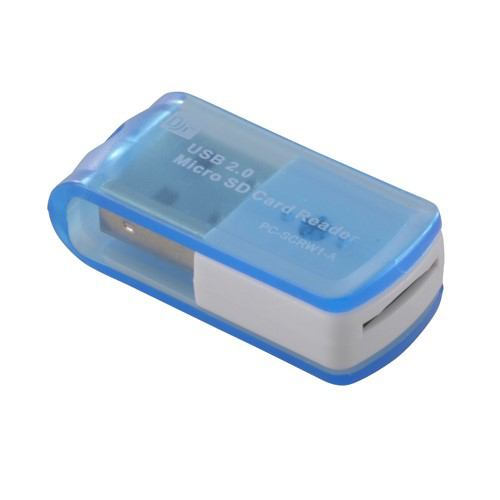 オーム電機 PC-SCRW1-A マイクロSD専用リーダー USB 8in1 ブルー